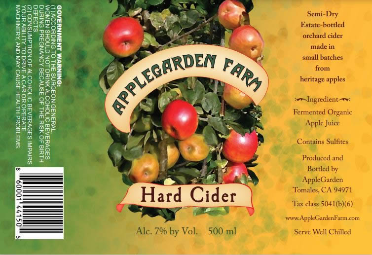 applegarden cider label